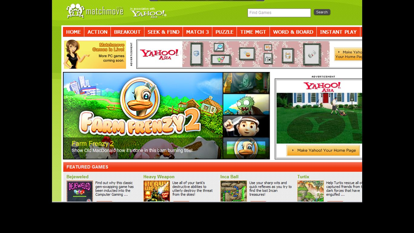 home page games