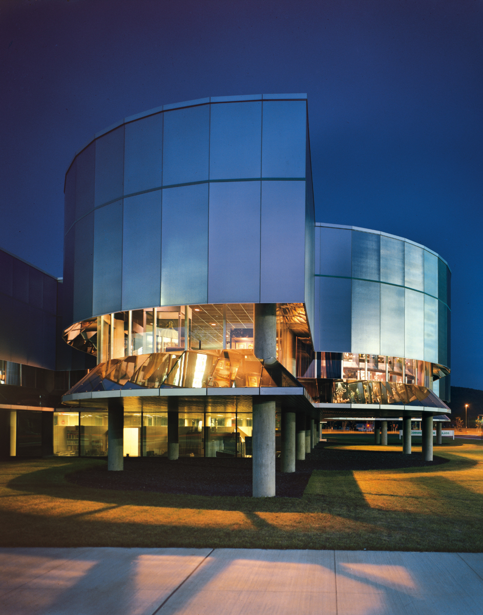 Architecture Exterior: The Corning Museum Of Glass Unveils World's Largest Glass