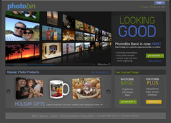 PhotoBin.com offers free basic accounts for photo sharing, archiving, and holiday gifts, as well as a 3-D Photo Wall that does not require a download.