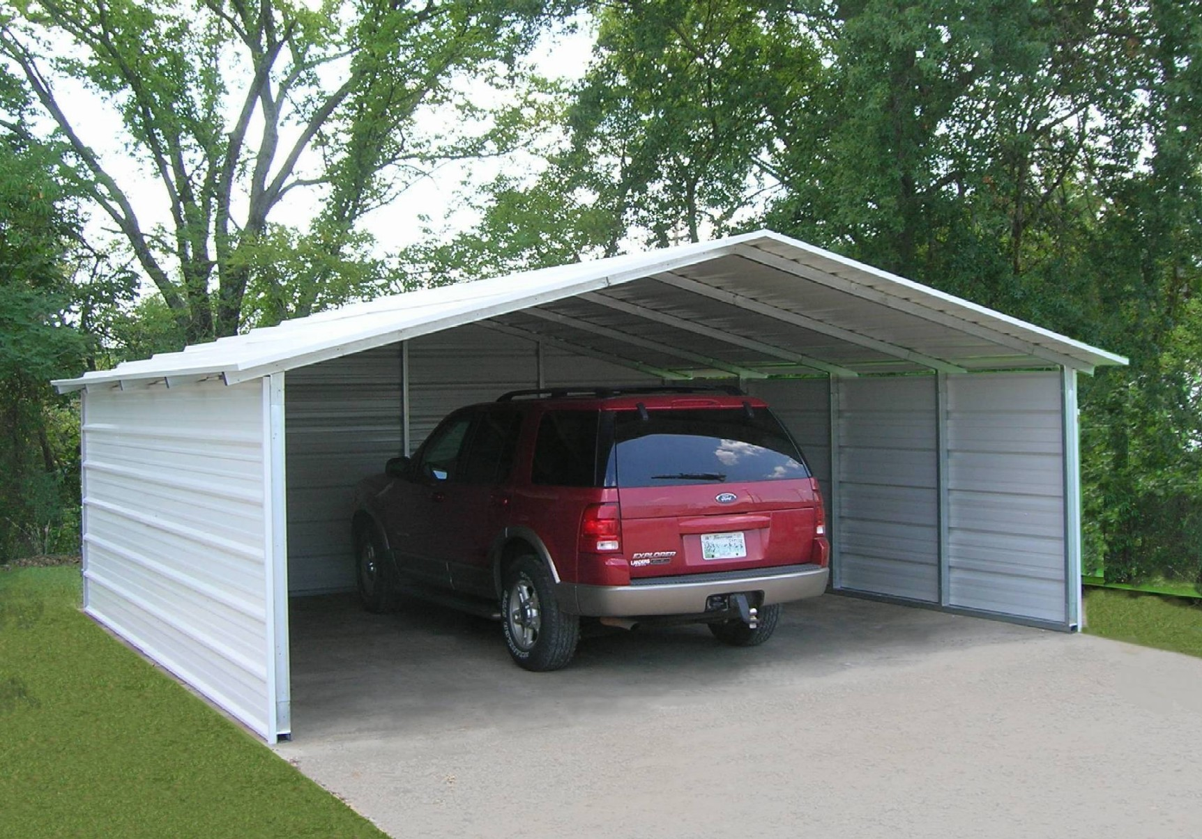 Carports designed by versatube offer elegance and more 3 car metal garage kits