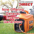 Electric Generators Direct Now Offering Generac Inverters