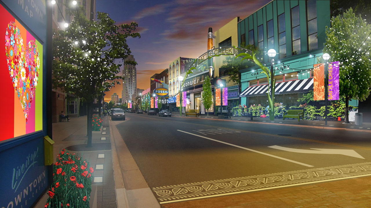 Battle Creek S Downtown Transformation Plan Named West