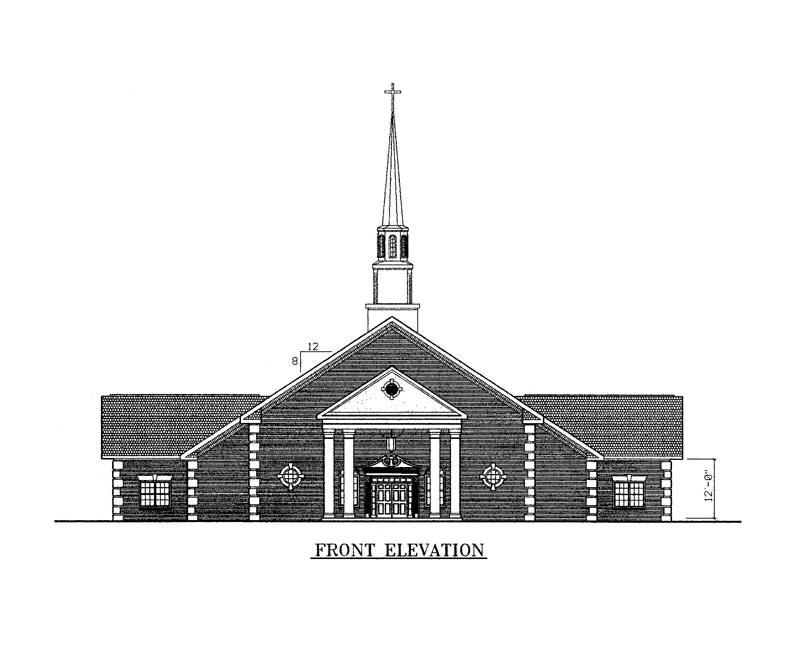 Sample Front Elevation Machine : Church elevation designs joy studio design gallery