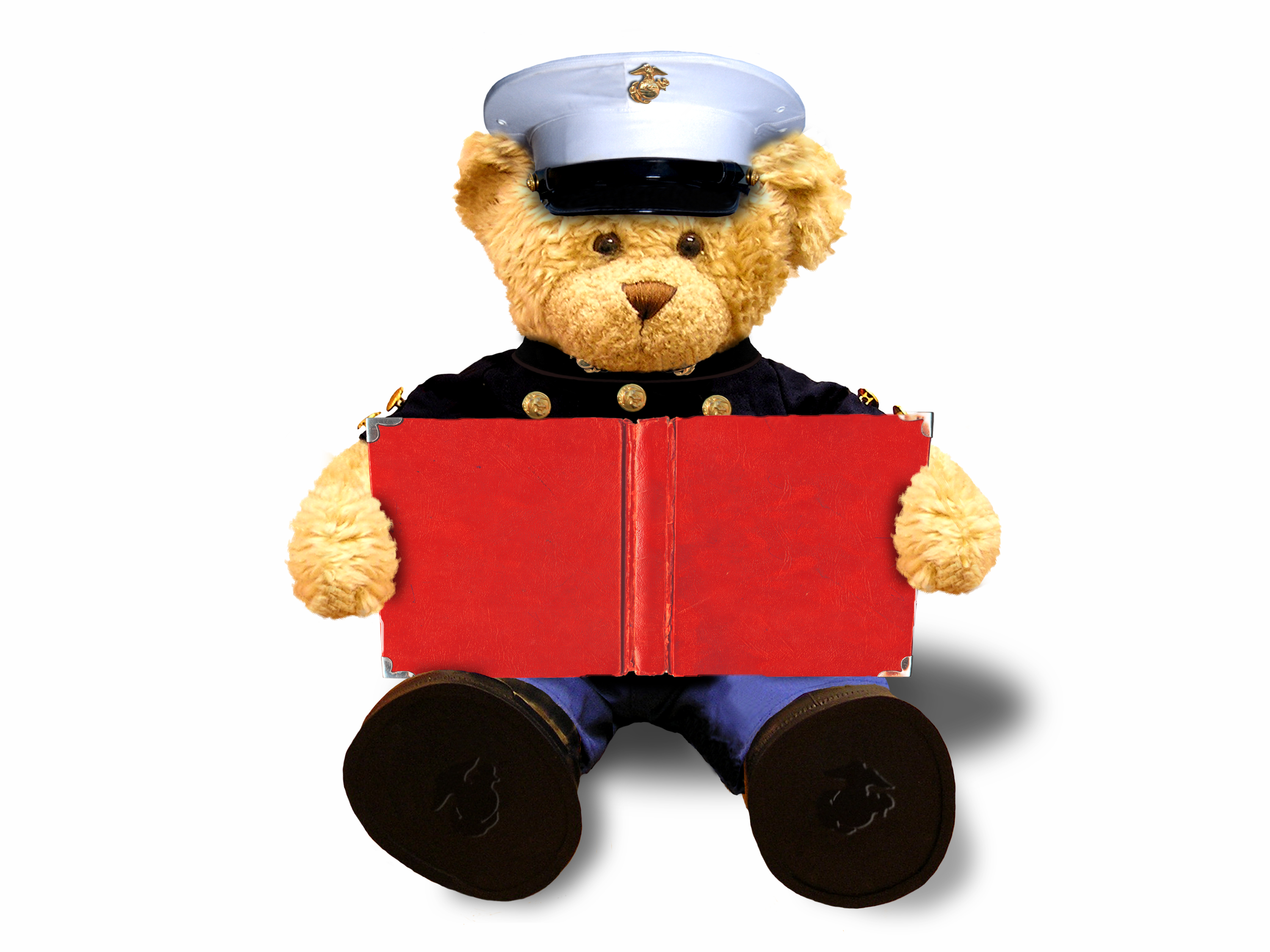Toys For Tots Marine Bear : Toys for tots literacy program encourages families to read