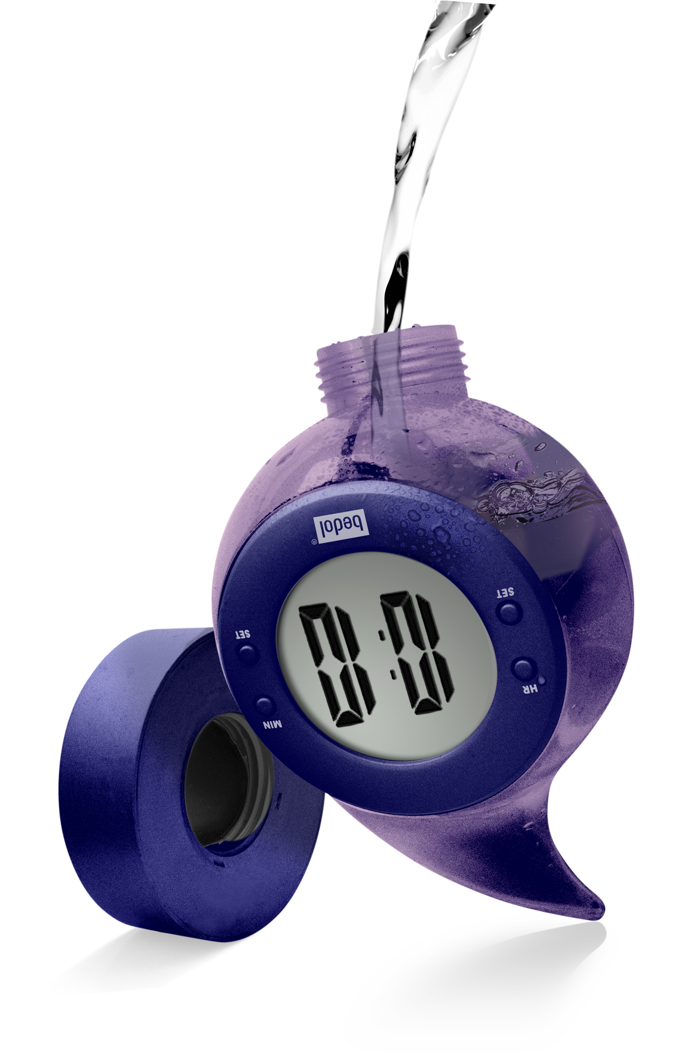 Bedol Battery-Free Water Powered Clock Adds Alarm Function ...
