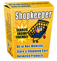 Shopkeeper USA 3-in-one ecommerce shopping cart software with make money affiliate marketing link, unlimited products and sell services for small business sellers.