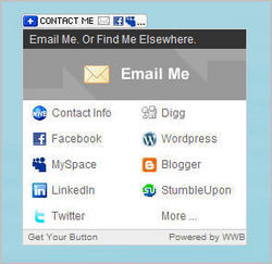 Contact Button with its dropdown menu open.