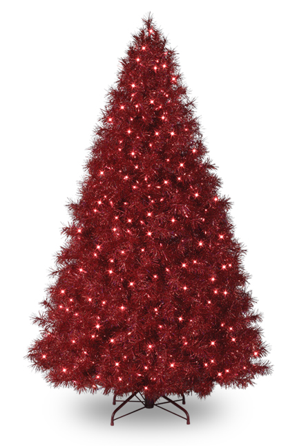 Black Tinsel Christmas Tree
