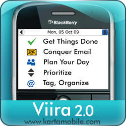 BlackBerry GTD app Viira