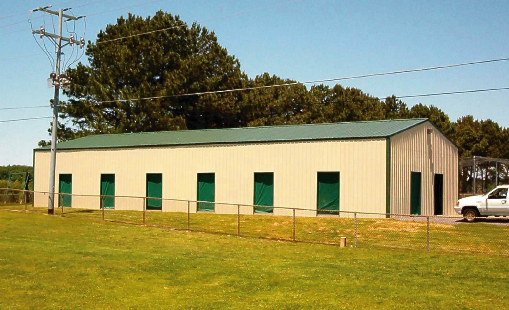 Metal building installation opportunities offered by for Design indoor baseball facility