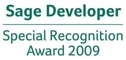 Draycir awarded Sage Developer Special Recognition Award 2009
