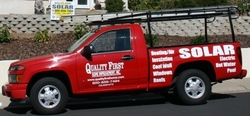 A tolar truck From Our fleet at Quality First Home Improvement Inc.