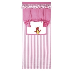 Pink Kids Puppet Theatre with hand puppet