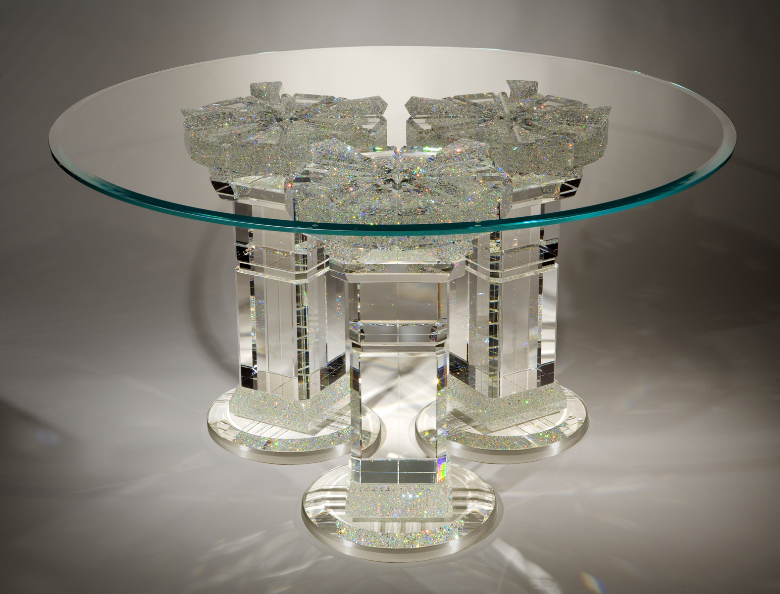 Nice ... One Of Jon Kuhnu0027s Astonishingly Beautiful Crystal Tables ...
