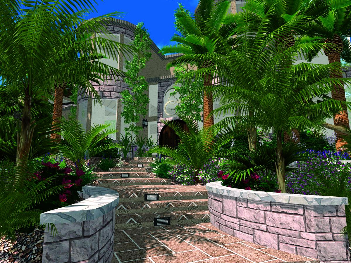 Transform A 2D Landscaping Plan With VizTerra Instant 3DVizTerra 3D Design Software Plans