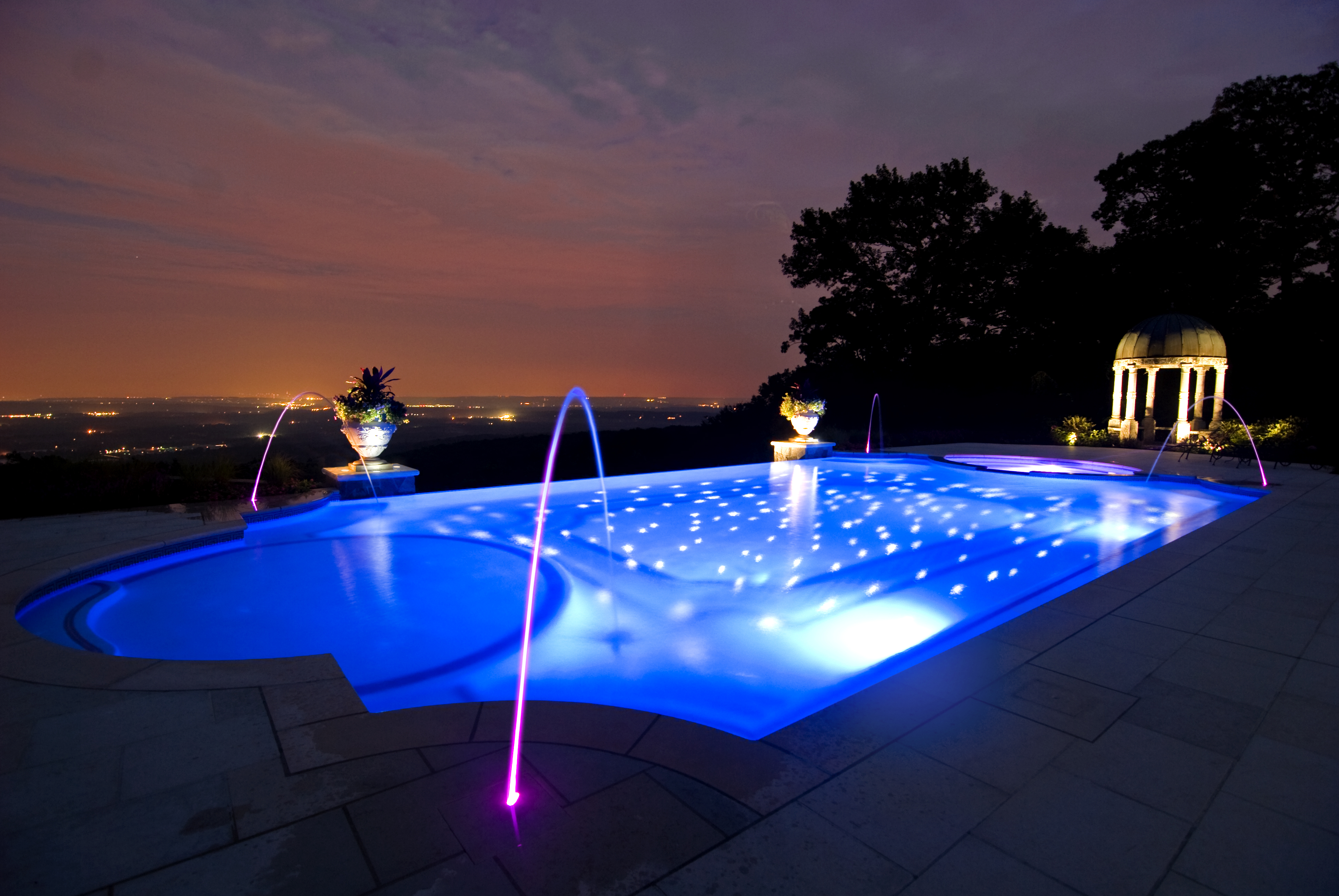 New jersey pool builder wins four awards of excellence for - Best backyard swimming pool designs ...