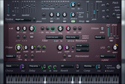 Screenshot of Harmless Virtual synthesizer