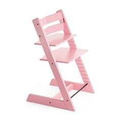 Pink Tripp Trapp high chair shown