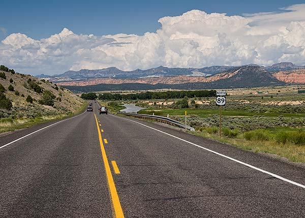 Us Route 89 In Southern Utah S Long Valley Us Route 89 Road Trip Map