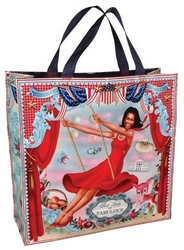 Mighty Michelle Obama Shopper - Blue Q Bags