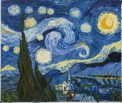 Vincent van Gogh's Starry Night oil painting is the most popular oil painting of the decade.