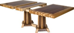 Innovative timber edge dining table design now available for Innovative dining table designs