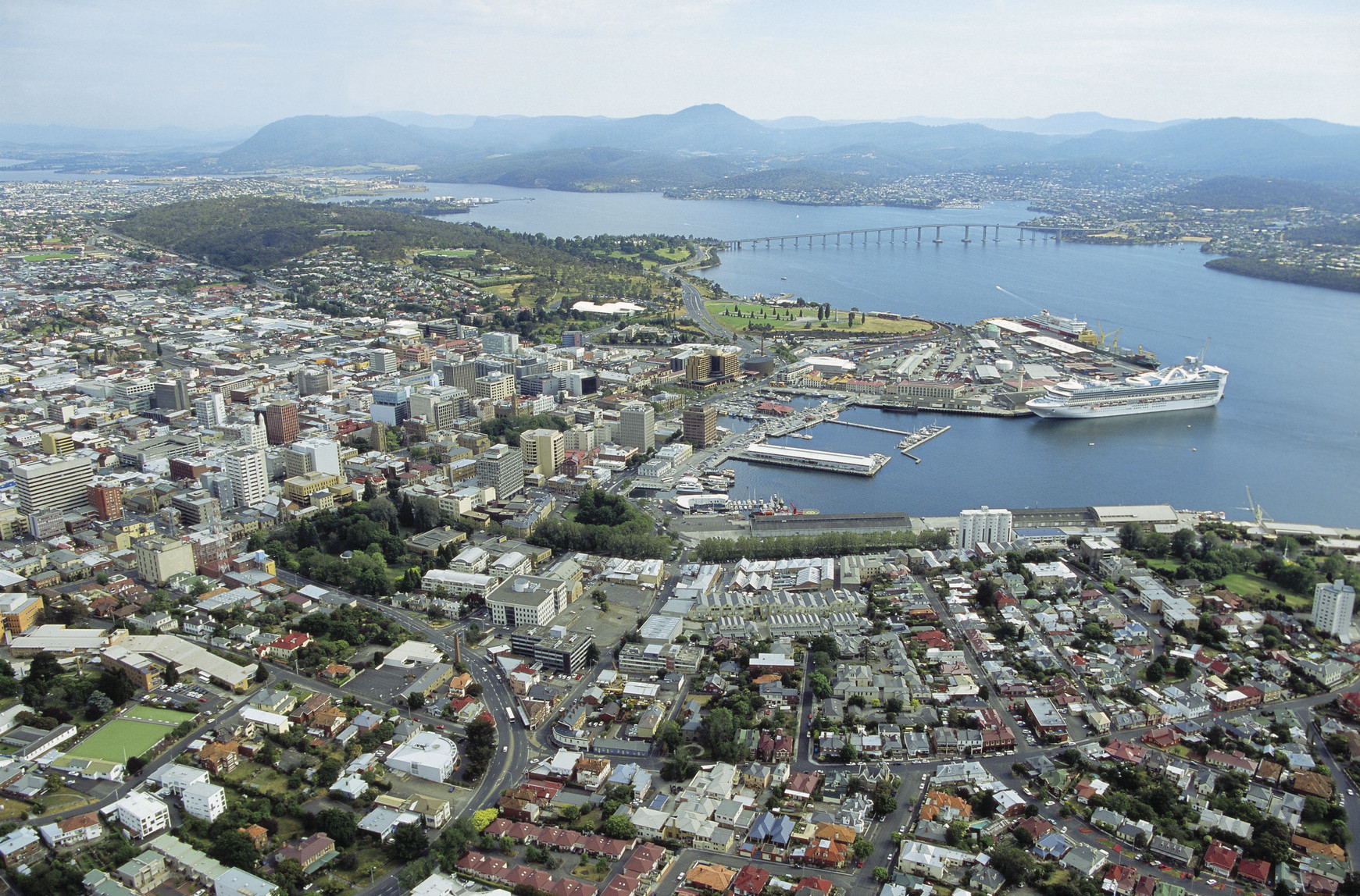 Hobart Australia  City pictures : Aerial View of Hobart Australia