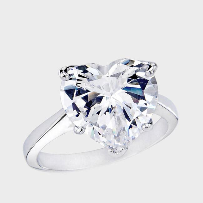 high quality heart shaped cubic zirconia ringshow your love with a high quality heart shaped cubic zirconia ring from birkat elyon - High Quality Cubic Zirconia Wedding Rings