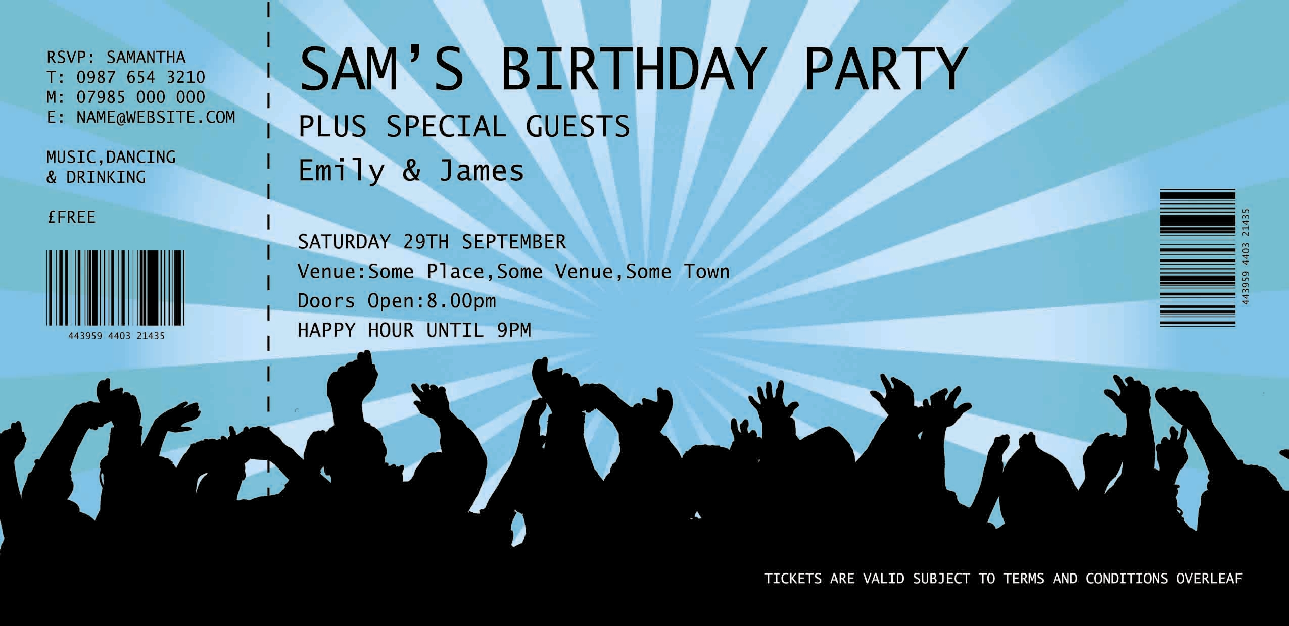 BallisticBlue Expands its Range of Personalised Invitations – Get Together Party Invitation