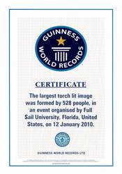 Full sail university officially sets world record for World record certificate template