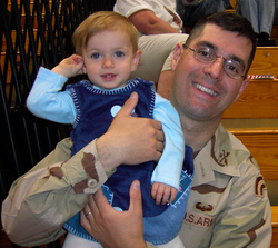 Capt. Phillip Esposito and daughter Madeline in October, 2004
