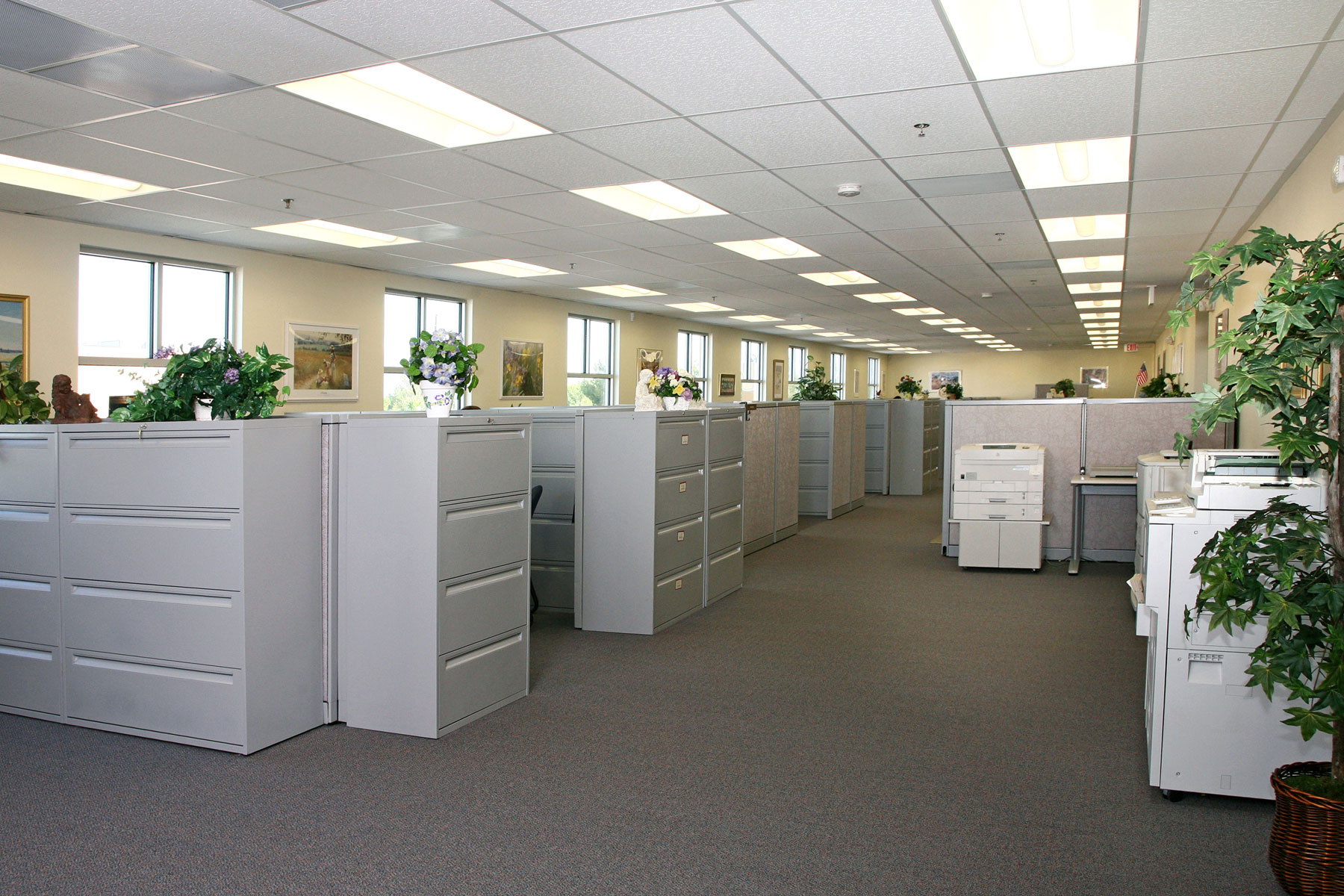 Pac van modular building provides new office space for for Office space interior