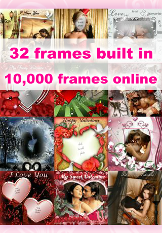v day app includes 32 built in frames and access to over 10000 frames online