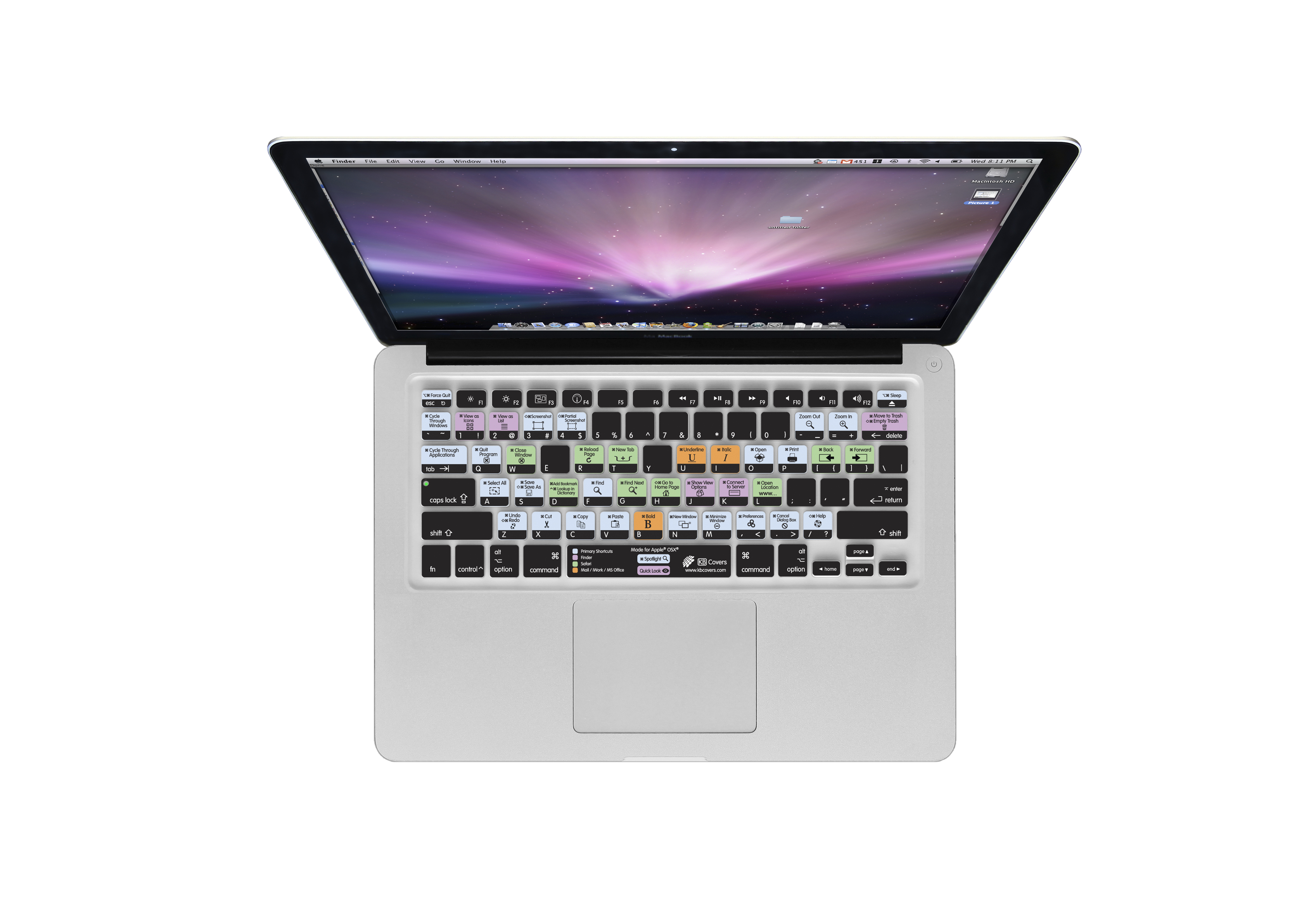 KB Covers Debuts New Mac OS X Shortcuts Keyboard Covers at Macworld ...