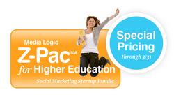 Special Pricing on Media Logic's Z-Pac for Higher Education through 3/31/10