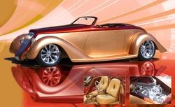 '35 roadster, RADSTER, Ridler Award, Detroit Autorama, CHROME calendar, street rod