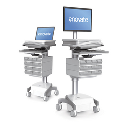 The medication computer cart provides the perfect foundation on which to build your mobile wireless system. The Computer on Wheels (COW) or Workstation on Wheels (WOW) – as you may know it, can accommodate virtually any computing hardware configuration and is loaded with ergonomic features and options for clinician user comfort, safety and convenience.