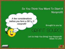 Grant Source nonprofit business trainings, coaching, and grant writing