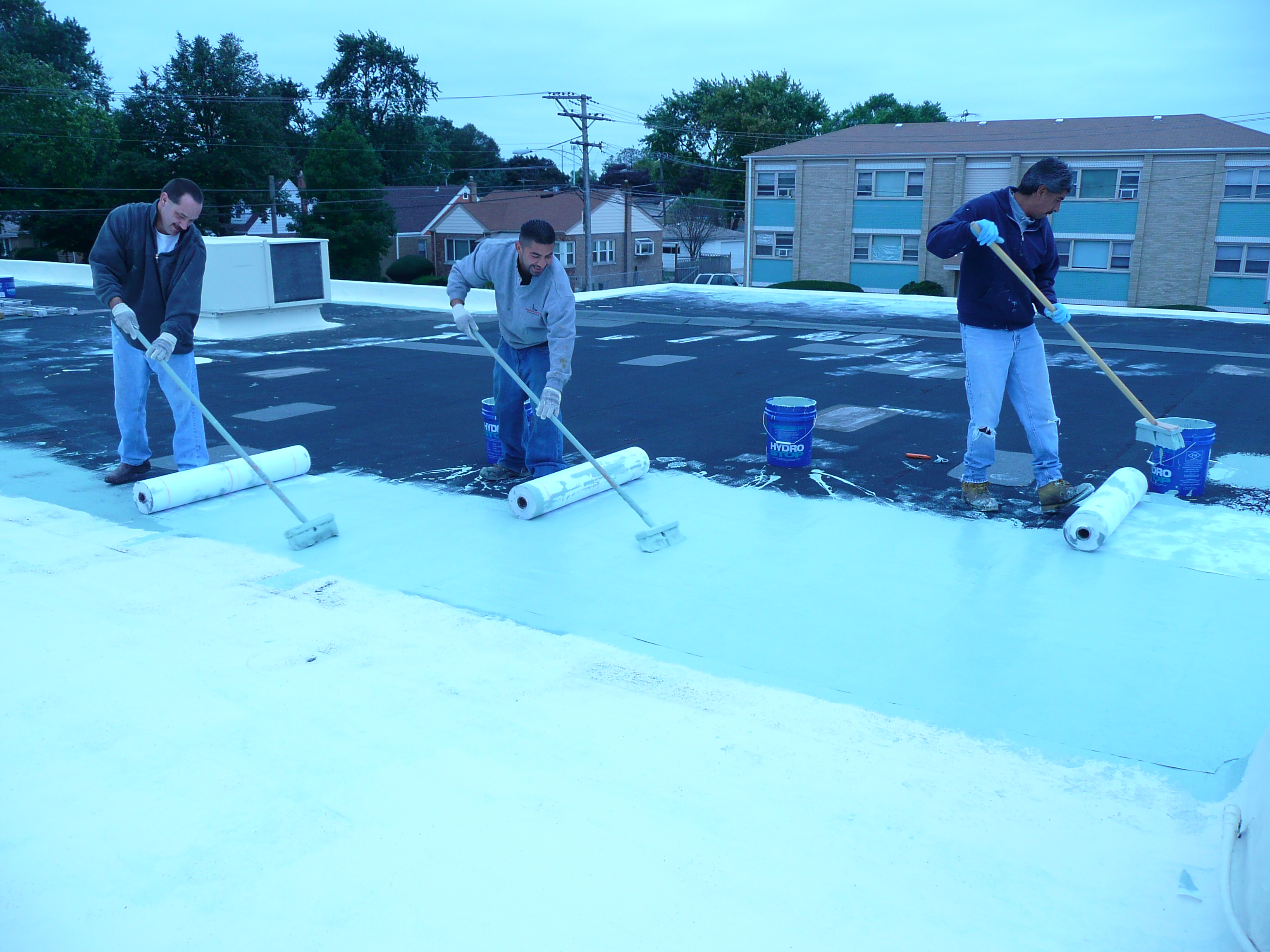 Installers. Hydro Stop Roof Coating
