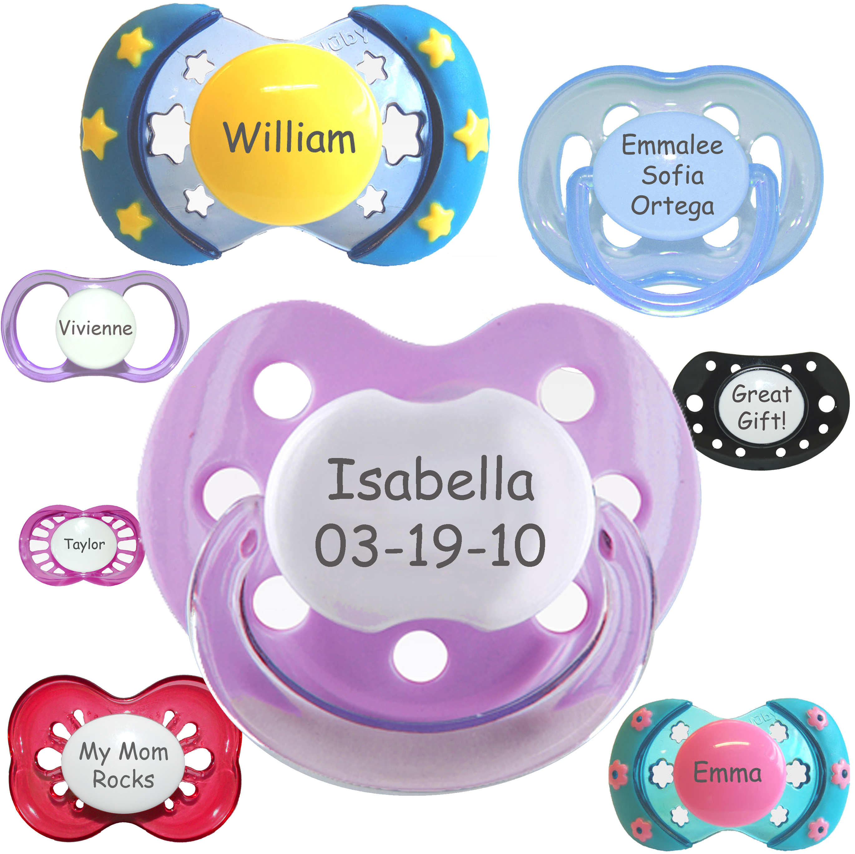 Mypacifier Com Personalized Pacifiers Participate In Scott