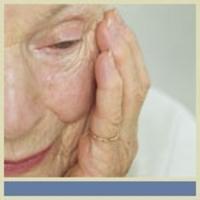 Senior with Alzheimer's disease
