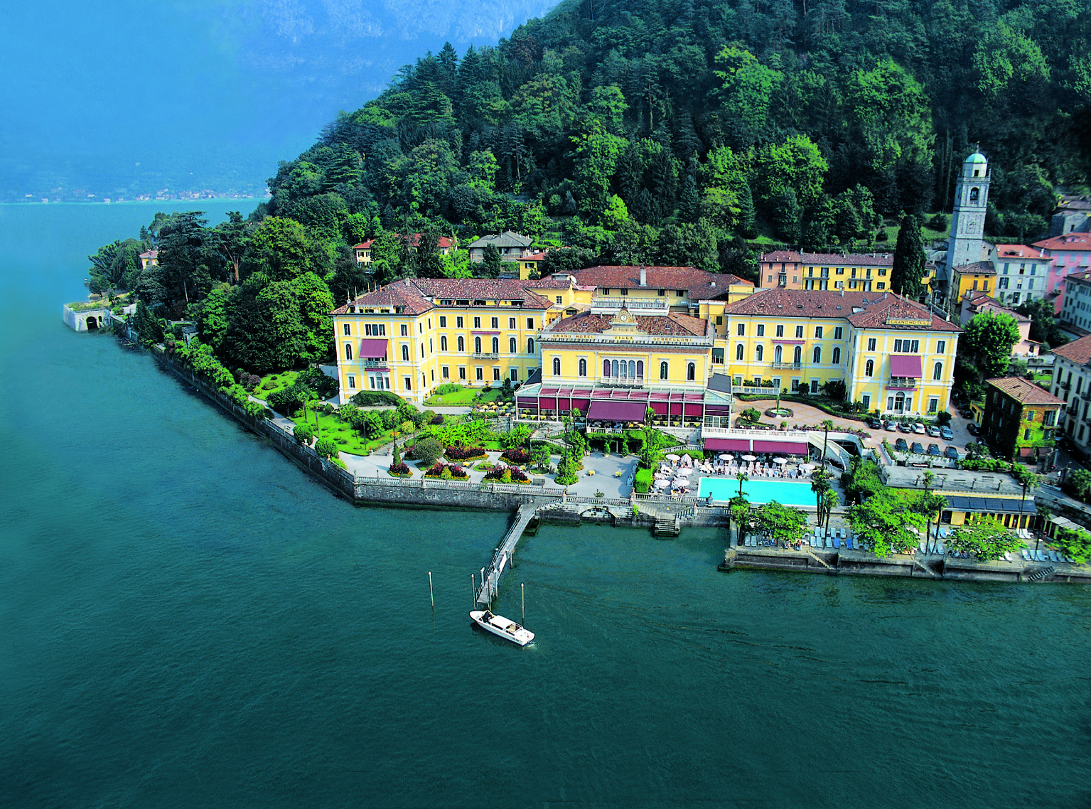 Bellagio lake como italy a view of the grand hotel villa serbelloni
