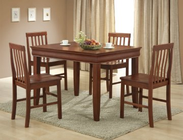 Ashlyn Dining Room Furniture SetRectangle Dining Set With Four Chairs And  Solid Wood Dining Table, Sturdy Construction, And Contemporary Design.