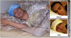Prevent sleep wrinkles when sleeping on side or stomach with Mumbani™ Fresh Face