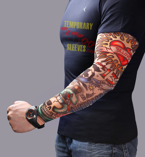 The Born To Be Wild Removable Tattoo Sleeve