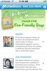 Motivators iPhone App Home Page