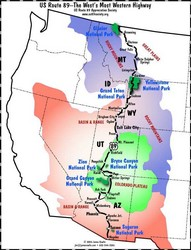 Explore The West This Summer With A Driving Vacation On US Route - Us route 89 map