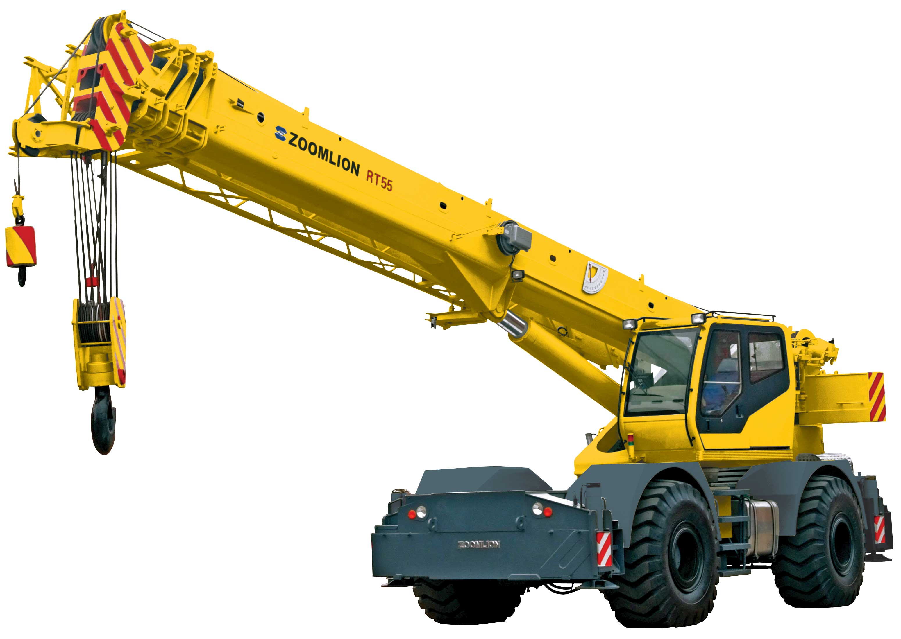 Global crane sales debuts groundbreaking zoomlion rt55 for The crain