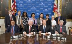 Brian Markovitz (far left), with Governor O'Malley