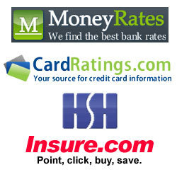 MoneyRates.com, CardRatings.com, HSH.com and Insure.com